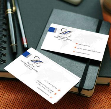 نمونه طراحی کارت ویزیت